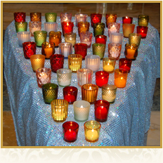 Prayer Candles at Reunion mass